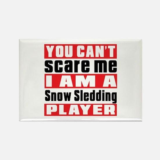 I Am Snow Sledding Player Rectangle Magnet