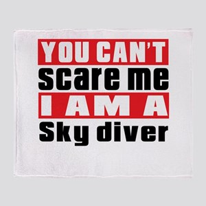 I Am Sky diving Player Throw Blanket