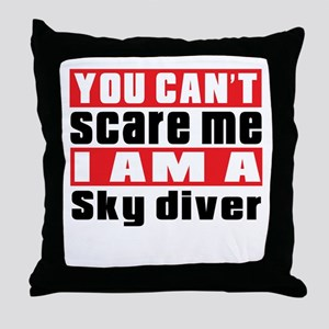 I Am Sky diving Player Throw Pillow