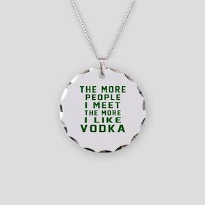 I Like Vodka Necklace Circle Charm