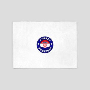 Zagreb Hrvatska 5'x7'Area Rug