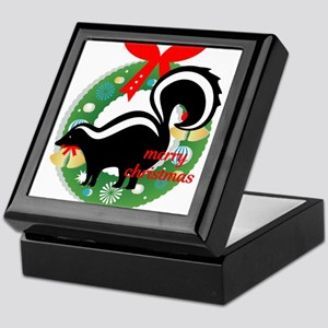 merry christmas skunk Keepsake Box