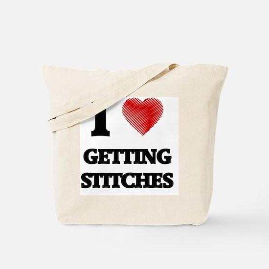 I love Getting Stitches Tote Bag