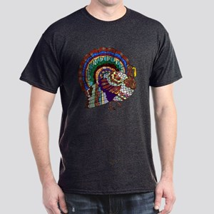 Thanksgiving Turkey Art Dark T-Shirt