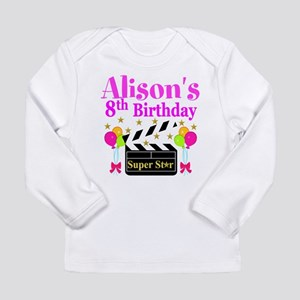 HAPPY 8TH Long Sleeve Infant T-Shirt