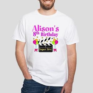 HAPPY 8TH White T-Shirt