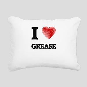 I love Grease Rectangular Canvas Pillow