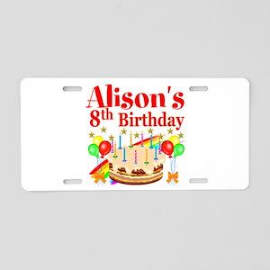 HAPPY 8TH Aluminum License Plate