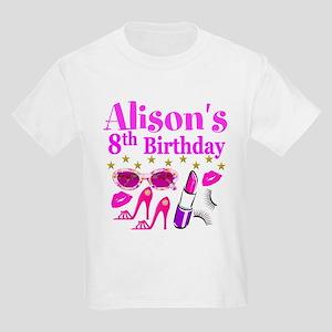 HAPPY 8TH Kids Light T Shirt