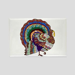 Thanksgiving Turkey Art Rectangle Magnet