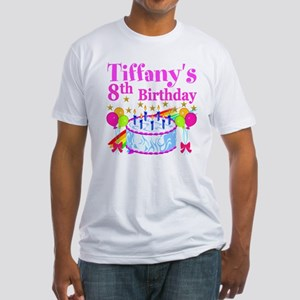 HAPPY 8TH Fitted T-Shirt