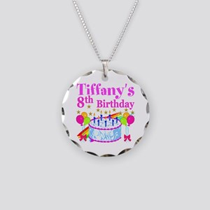 HAPPY 8TH Necklace Circle Charm