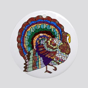 Thanksgiving Turkey Art Ornament (Round)