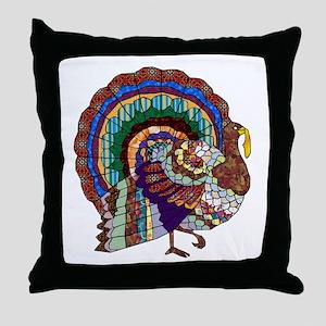 Thanksgiving Turkey Art Throw Pillow