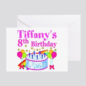 8th birthday greeting cards cafepress happy 8th greeting card bookmarktalkfo Image collections