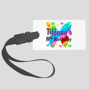 HAPPY 8TH Large Luggage Tag