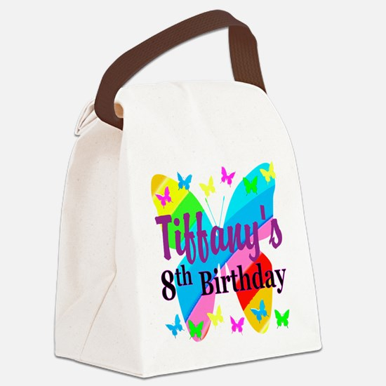 HAPPY 8TH Canvas Lunch Bag