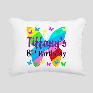 HAPPY 8TH Rectangular Canvas Pillow