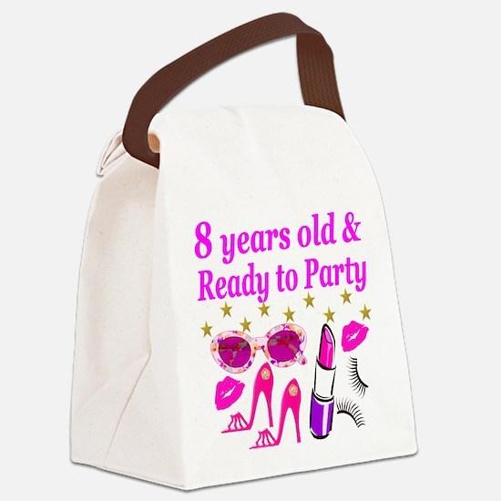 8TH BIRTHDAY Canvas Lunch Bag