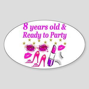 8TH BIRTHDAY Sticker (Oval)