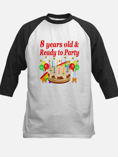8TH BIRTHDAY Kids Baseball Jersey
