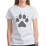 Wolf Paw Print Women's T-Shirt