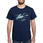 Beluga Whales Dark T-Shirt Wildlife Art T-shirts