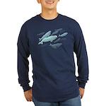 Beluga Whales Long Sleeve Dark T-Shirt