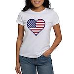 American Flag Heart Women's T-Shirt
