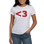 Less than 3 Women's T-Shirt