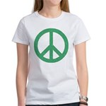 Green Peace Sign Women's T-Shirt