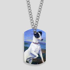 Terrier Dog at the Lake Dog Tags