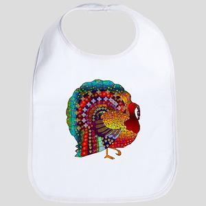 Thanksgiving Jeweled Turkey Bib
