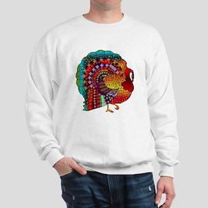 Thanksgiving Jeweled Turkey Sweatshirt