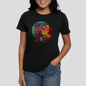 08000bfeae90a Thanksgiving Jeweled Turkey Women s Dark T-Shirt