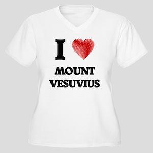 I love Mount Vesuvius Plus Size T-Shirt