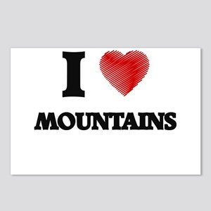 I love Mountains Postcards (Package of 8)