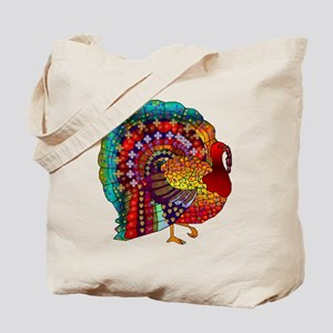 Thanksgiving Jeweled Turkey Tote Bag