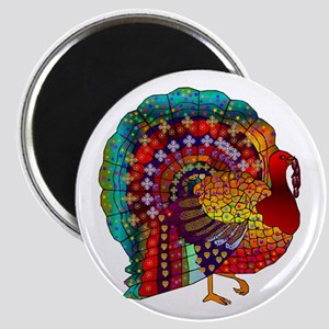 Thanksgiving Jeweled Turkey Magnet