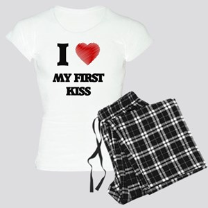 I love My First Kiss Women's Light Pajamas