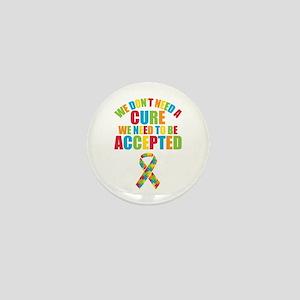 Autism Acceptance Mini Button