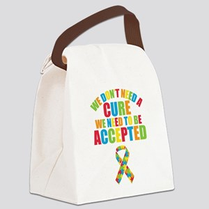 Autism Acceptance Canvas Lunch Bag