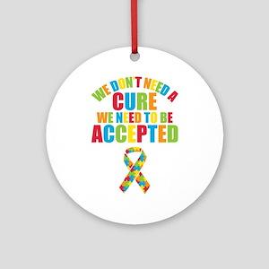 Autism Acceptance Round Ornament