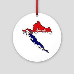 Cool Croatia Ornament (Round)