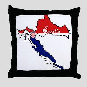 Cool Croatia Throw Pillow