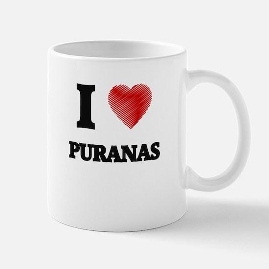 I love Puranas Mugs