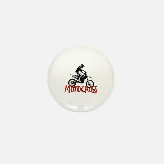 Cute Motocross Mini Button