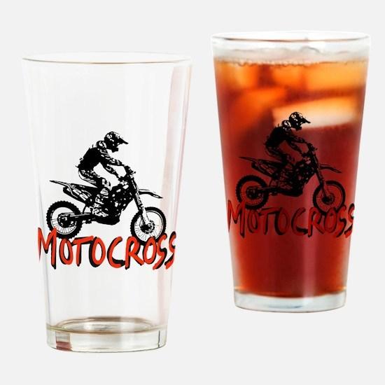 Unique Motocross Drinking Glass
