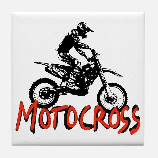 Cute Motocross Tile Coaster