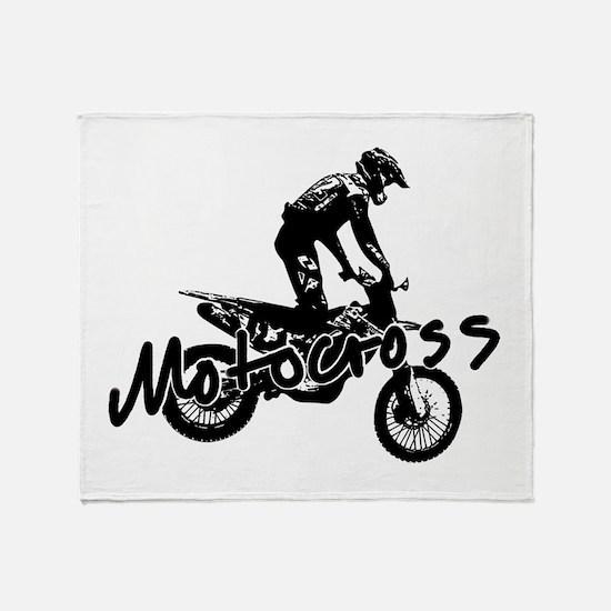 Cute Freestyle motocross Throw Blanket